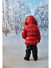 Костюм зимний цвет: Красный/черный