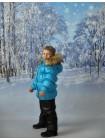 Костюм зимний цвет: Бирюза/черный