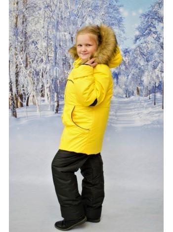 Костюм зимний цвет: Желтый/черный