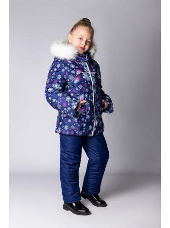 Костюм зимний цвет: Снежинки /синий