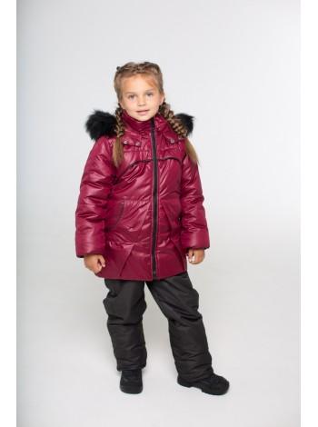 Костюм зимний цвет: Бордо/черный
