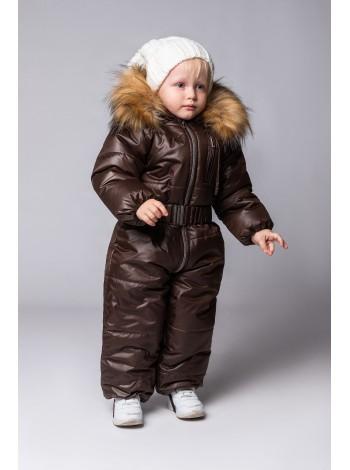 Комбинезон зимний цвет: Темный шоколад