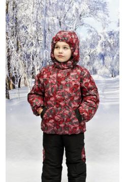 Костюм зимний мембранный цвет: Красные шары