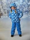 Костюм зимний мембранный цвет: Белые кристаллы голубой