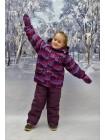 Костюм зимний мембранный цвет: Фиолет/капли