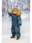 Комбинезон зимний мембранный цвет: Соты синий