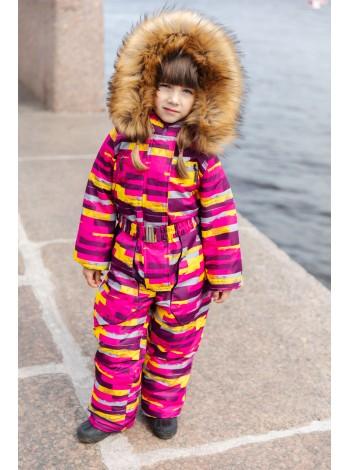 Комбинезон зимний мембранный цвет: Цветные полоски
