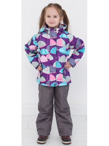 Костюм демисезонный мембранный цвет: Зонтики фиолет
