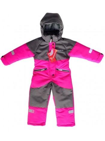 Комбинезон демисезонный мембранный цвет: Розовый/серый
