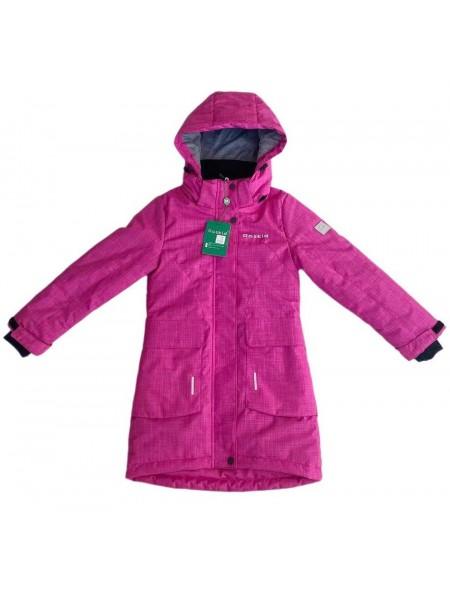 Пальто демисезонное мембранное цвет:  Ярко-розовый