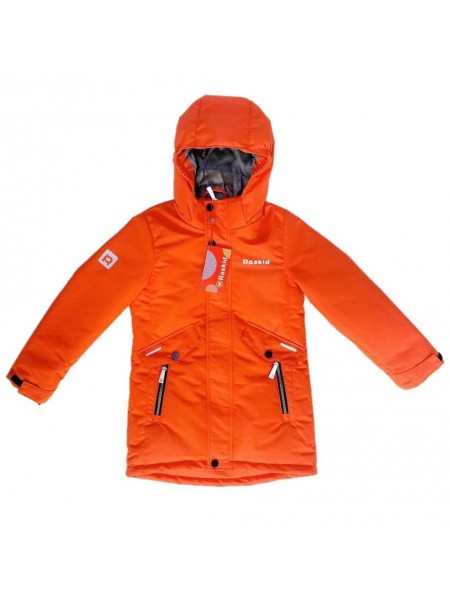 Парка демисезонная мембранная для мальчика цвет: Оранжевый