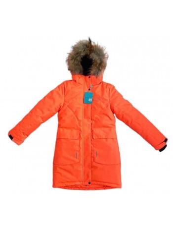 Пальто зимнее мембранное цвет: Оранжевый 2021/22