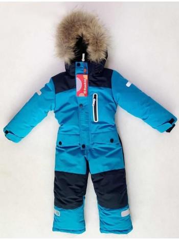 Комбинезон зимний  мембранный цвет: синий/черный
