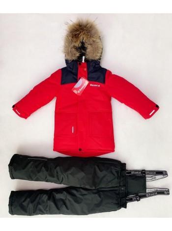 Костюм зимний мембранный цвет: Красный-черный